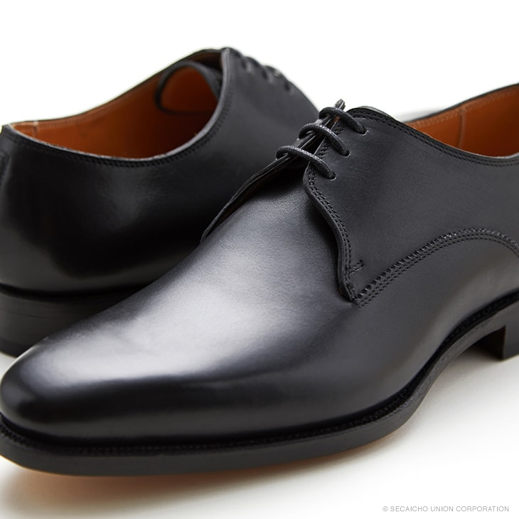 ユニオンインペリアル カーフ革 プレーントゥ ビジネスシューズ U3003(ブラック) メンズ靴 UNION IMPERIAL