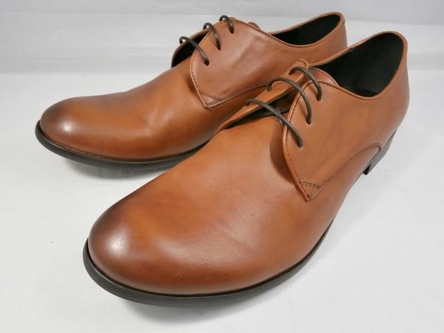 【現品26.0のみ/即日発送】whoop'-de-doo' フープディドゥ ソフトレザー プレーントゥ 306954(キャメル) メンズ 靴