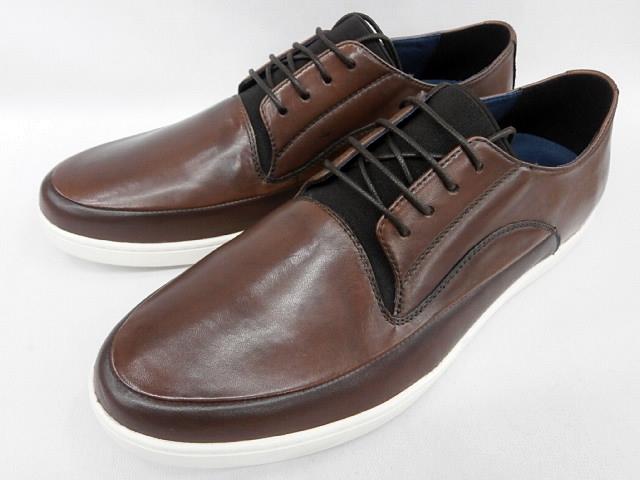 【現品25.5cm/即日発送】whoop'-de-doo' フープディドゥ デストラクション シープスニーカー 19330109 (ダークブラウン) メンズ 靴