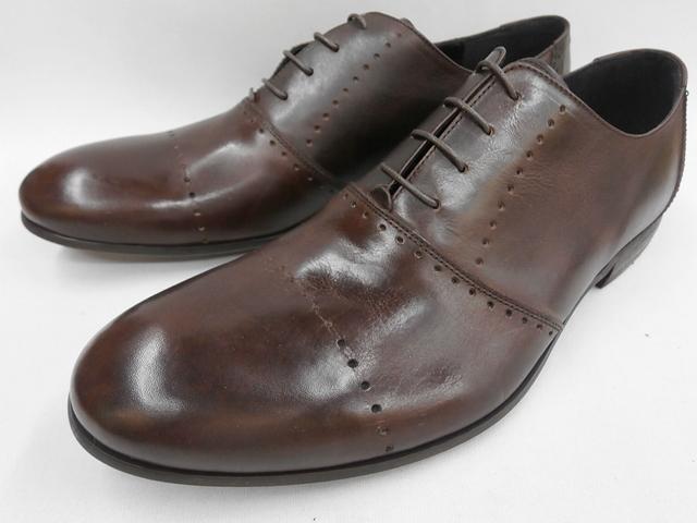 【19年秋新製品】whoop'-de-doo' フープディドゥ パーフォレーションラウンドトゥシューズ 19210044 (ダークブラウン) メンズ靴