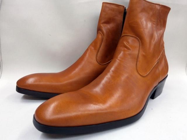 【在庫限り/即日発送】whoop'-de-doo' フープディドゥ 高級革ヒールアップブーツ 19210049 (キャメル) メンズ靴