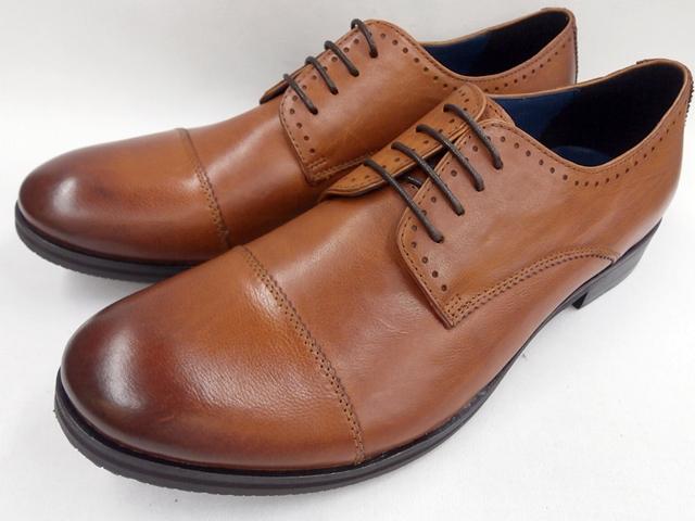 【19年秋新製品】whoop'-de-doo' フープディドゥ バッファロー革 ラウンドトゥビジネスシューズ 19230060 (キャメル) メンズ靴