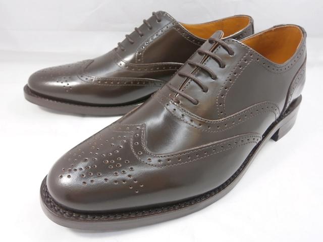 ロンドンシューメイク London Shoe Make オックスフォード&ダービー Oxford & Derby 8002(ダークブラウン) ウィングチップ メンズ ビジネスシューズ グッドイヤーウェルト製法 本格紳士靴