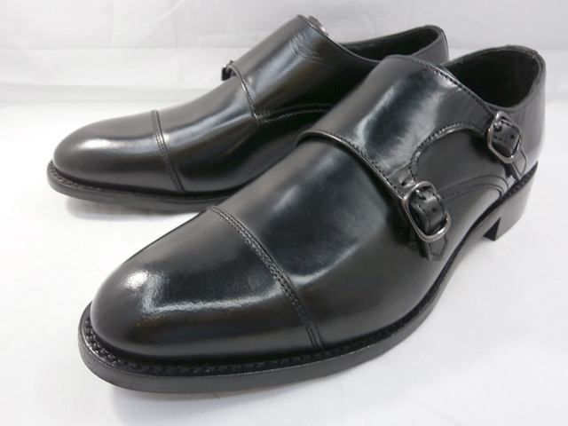 ロンドンシューメイク London Shoe Make オックスフォード&ダービー Oxford & Derby 8006(ブラック) ダブルモンクストラップ メンズ ビジネスシューズ グッドイヤーウェルト製法 本格紳士靴