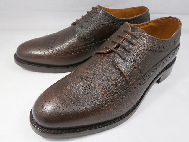 ロンドンシューメイク London Shoe Make オックスフォード&ダービー Oxford & Derby 8011(ダークブラウン) グレインレザーフルブローグ メンズ ビジネスシューズ グッドイヤーウェルト製法 本格紳士靴