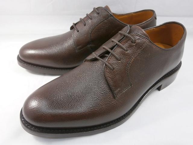 ロンドンシューメイク London Shoe Make オックスフォード&ダービー Oxford & Derby 8012(ダークブラウン) グレインレザープレーントゥ メンズ ビジネスシューズ グッドイヤーウェルト製法 本格紳士靴