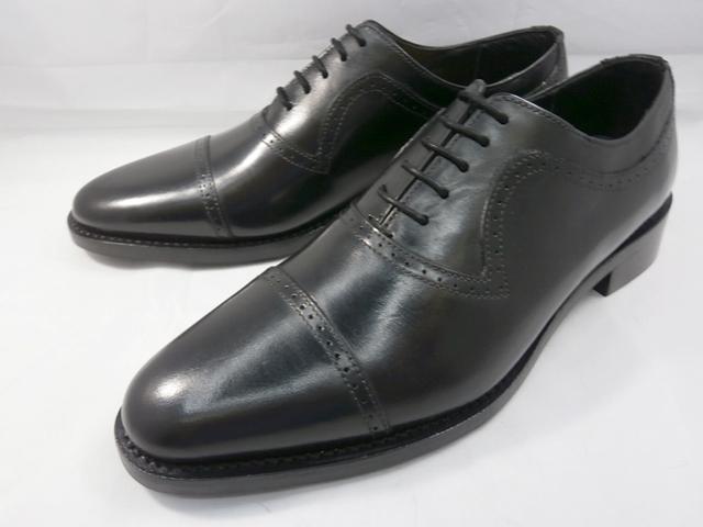 ロンドンシューメイク London Shoe Make オックスフォード&ダービー Oxford & Derby 8021(ブラック) クォーターブローグ メンズ ビジネスシューズ グッドイヤーウェルト製法 本格紳士靴