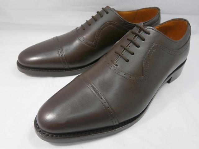 ロンドンシューメイク London Shoe Make オックスフォード&ダービー Oxford & Derby 8021(ダークブラウン) クォーターブローグ メンズ ビジネスシューズ グッドイヤーウェルト製法 本格紳士靴