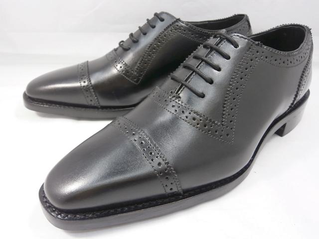 ロンドンシューメイク London Shoe Make オックスフォード&ダービー Oxford & Derby 8024(ブラック) クォーターブローグ メンズ ビジネスシューズ グッドイヤーウェルト製法 本格紳士靴
