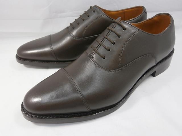 ロンドンシューメイク London Shoe Make オックスフォード&ダービー Oxford & Derby 8027(ダークブラウン) バルモラルストレートチップ メンズ ビジネスシューズ グッドイヤー製法 本格紳士靴