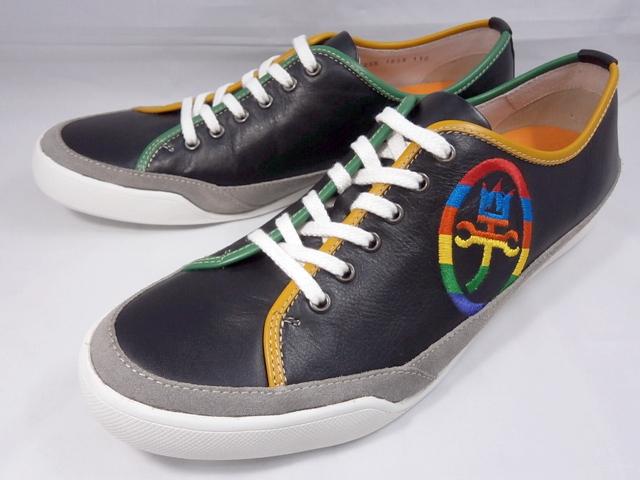 CASTELBAJAC カステルバジャック レザースニーカー 12195(ブラック)靴 メンズ