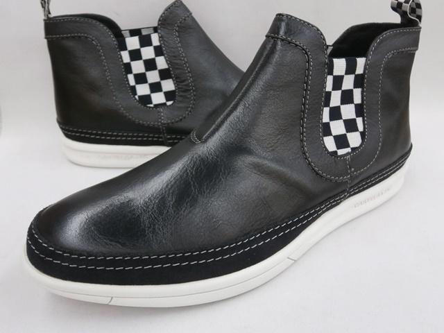 CASTELBAJAC カステルバジャック サイドゴアレザースニーカー 12223(ブラック)靴 メンズ