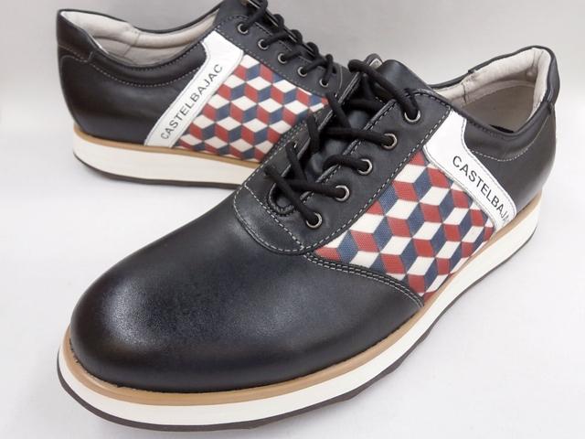 CASTELBAJAC カステルバジャック 幾何学柄スニーカーカジュアル 12224(ネイビー)靴 メンズ