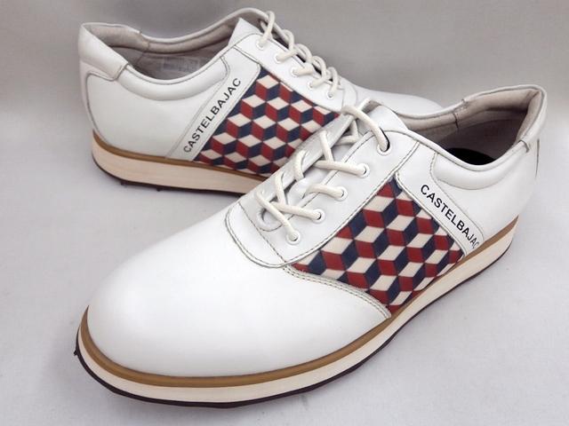 CASTELBAJAC カステルバジャック 幾何学柄スニーカーカジュアル 12224(ホワイト)靴 メンズ