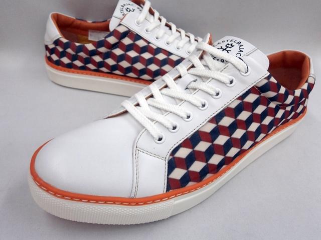 CASTELBAJAC カステルバジャック 幾何学柄ローカットスニーカー 12227(ホワイト)靴 メンズ