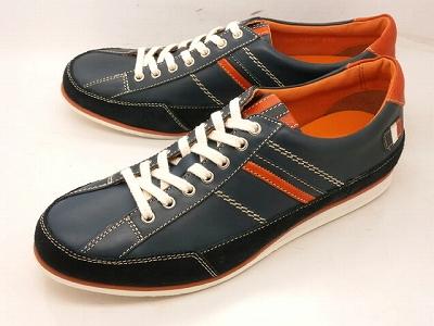 CASTELBAJAC カステルバジャック レザースニーカー 12126(ネイビー)靴 メンズ