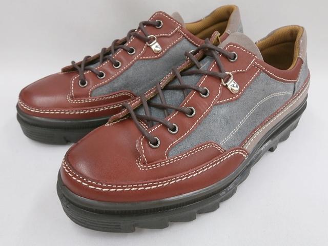 【19年新製品】 BOBSON(ボブソン)アウトドアーカジュアル4358(バーガンディ/グレー)メンズ 靴