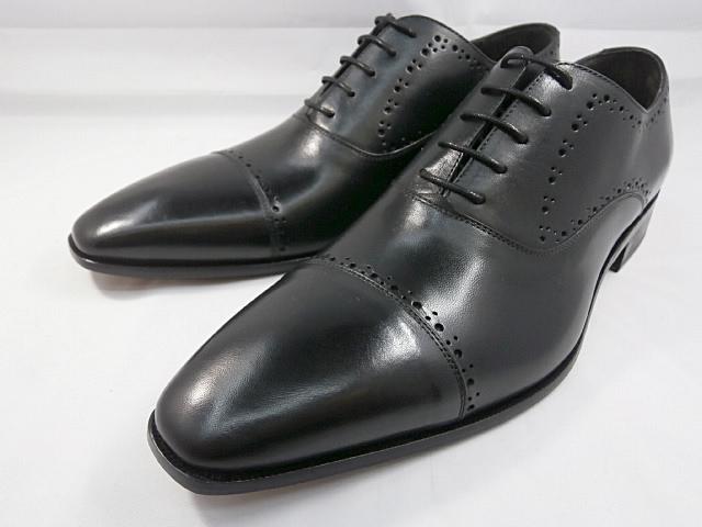 【ただいま入荷!】 C florence(フローレンス) イタリア製 PARMA B-2118(ブラック) セミブローグ ビジネスシューズ 靴