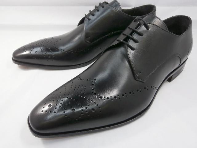 【ただいま入荷!】 C florence(フローレンス) イタリア製 PARMA B-371(ブラック) フルブローグ ビジネスシューズ 靴
