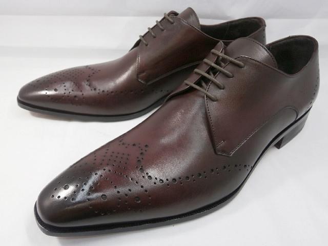 【ただいま入荷!】 C florence(フローレンス) イタリア製 PARMA B-371(ボルドーワイン) フルブローグ ビジネスシューズ 靴