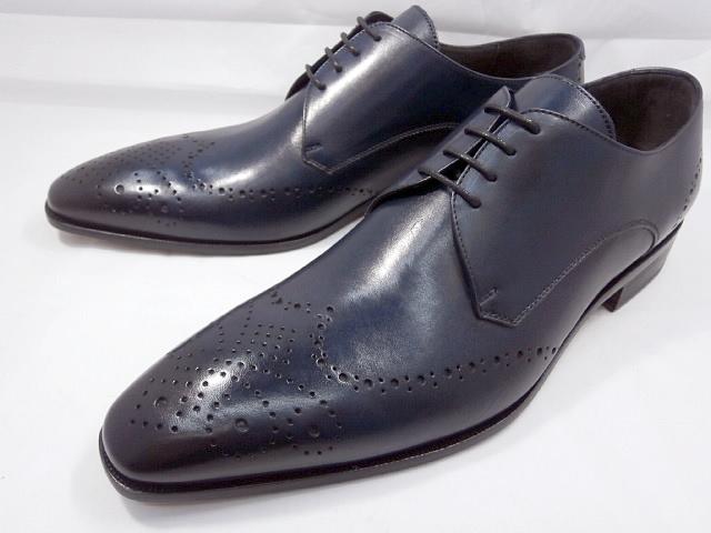 【ただいま入荷!】 C florence(フローレンス) イタリア製 PARMA B-371(ネイビーブルー) フルブローグ ビジネスシューズ 靴