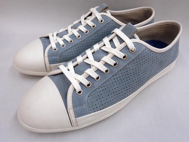 【20年新発売 】 キャサリンハムネット スニーカーカジュアル HAMNETT 37052(ブルー)KATHARINE HAMNETT メンズ靴