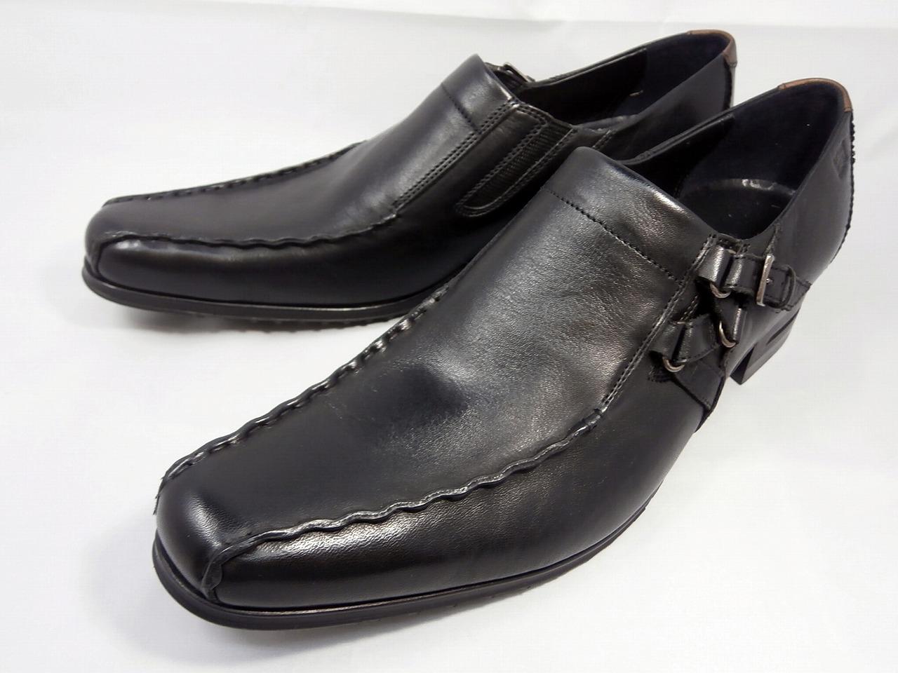 【17年秋モデル】 キャサリンハムネット 靴ビジネスシューズキップ革サイドベルトスワールモカ 31554(ブラック)KATHARINE HAMNETT メンズ 紳士靴
