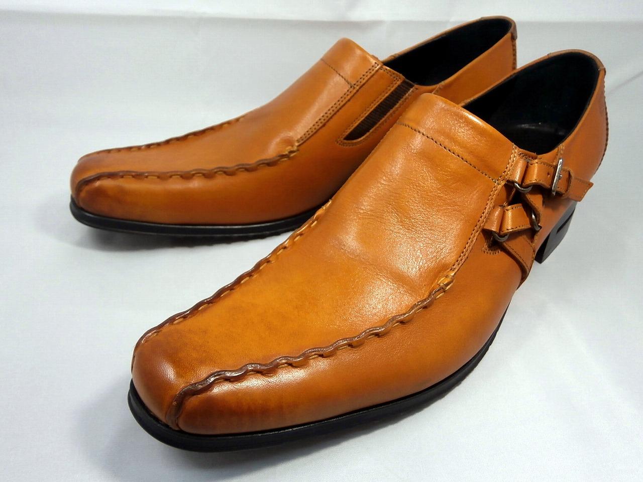 【17年秋モデル】 キャサリンハムネット 靴ビジネスシューズキップ革サイドベルトスワールモカ 31554(ブラウン) KATHARINE HAMNETT メンズ 紳士靴