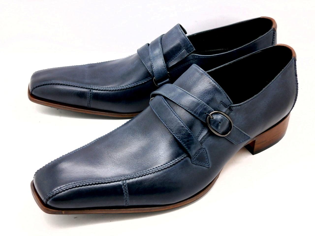 【人気ナンバーワン】キャサリンハムネット モンクストラップ 31501(ネイビー)KATHARINE HAMNETT メンズ ビジネス 靴 紳士靴
