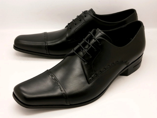 【28.0cmまで】 キャサリンハムネット 靴 ストレートチップ ビジネスシューズ 31601(ブラック) KATHARINE HAMNETTメンズ  紳士靴