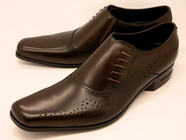 【別格・存在感】 キャサリンハムネット 靴ビジネスシューズ31602(ダークブラウン)サイドレースKATHARINE HAMNETT メンズ 紳士靴