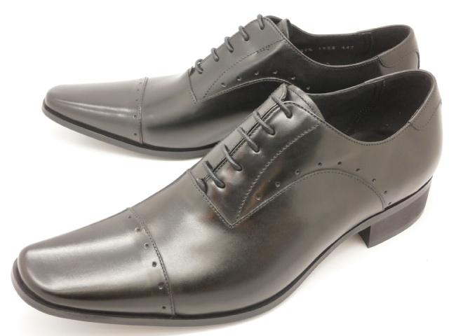 【値下げしました!】 キャサリンハムネット 内羽根ストレートチップ(パンチング) 3978(ブラック)KATHARINE HAMNETT靴 紳士靴
