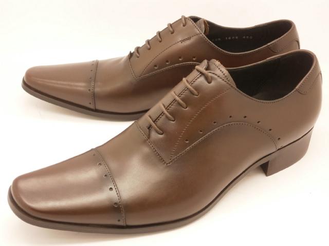 【値下げしました】 キャサリンハムネット 靴 メンズ ビジネスシューズ内羽根ストレートチップ(パンチング) 3978(ダークブラウン)KATHARINE HAMNETT紳士靴
