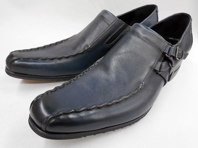 【絶賛の新色入荷】 キャサリンハムネット 靴 ビジネスシューズ キップ革サイドベルトスワールモカ 31554(ネイビー) KATHARINE HAMNETT メンズ 紳士靴