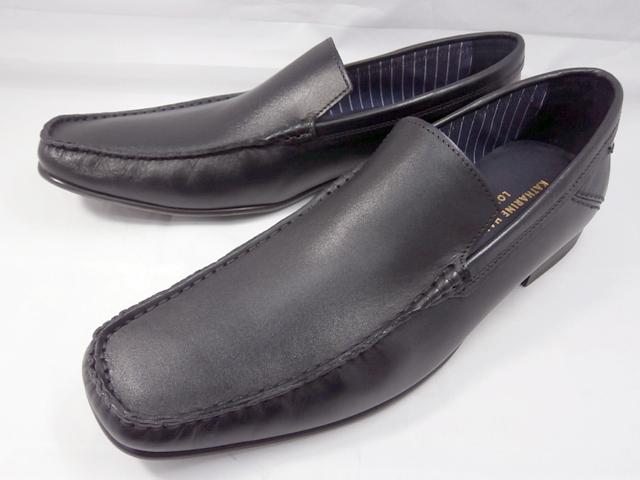 【18年春発売】 キャサリンハムネット 靴バンプスリッポンカジュアル 31559(ブラック)KATHARINE HAMNETT 革靴 紳士靴 本革 メンズ