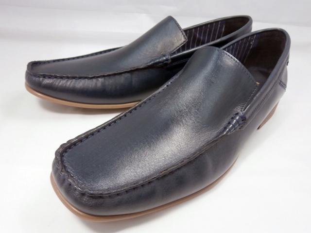 【18年春発売】 キャサリンハムネット 靴 バンプスリッポンカジュアル 31559(ネイビー)KATHARINE HAMNETT革靴 紳士靴 本革 メンズ