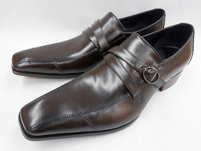 【大ヒット!後継品】 キャサリンハムネット 靴 モンクストラップ ビジネスシューズ 31591(ダークブラウン) KATHARINE HAMNETT メンズ 紳士靴