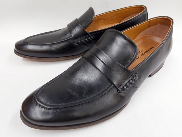 【19年春モデル】 キャサリンハムネット 靴ビジネスシューズラウンドトゥローファー 31610(ブラック) KATHARINE HAMNETT メンズ 紳士靴