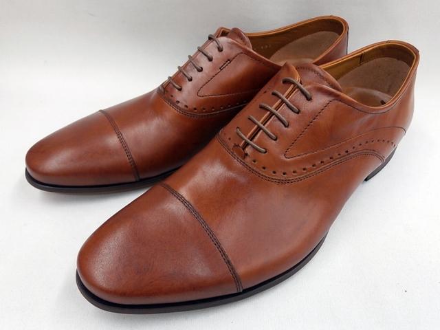 【20年春新色】 キャサリンハムネット 靴 ビジネスシューズラウンドトゥ ローヒール ストレートチップ 31611(ブラウン) KATHARINE HAMNETT メンズ 紳士靴