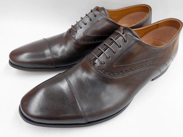 【20年春新色】 キャサリンハムネット 靴 ビジネスシューズラウンドトゥ ローヒール ストレートチップ 31611(ダークブラウン) KATHARINE HAMNETT メンズ 紳士靴