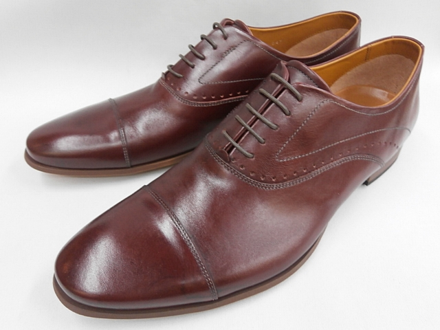 【現品25.5cm/即日発送】 キャサリンハムネット 靴 ビジネスシューズラウンドトゥ ストレートチップ 31611(レッド) KATHARINE HAMNETT メンズ 紳士靴