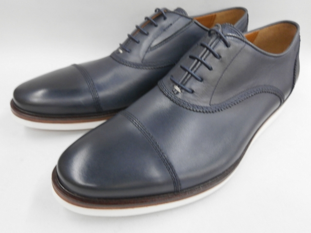【19年秋冬最新!】 キャサリンハムネット 靴 ビジネスシューズラウンドトゥ ストレートチップ 31621(ネイビー) KATHARINE HAMNETT メンズ 紳士靴