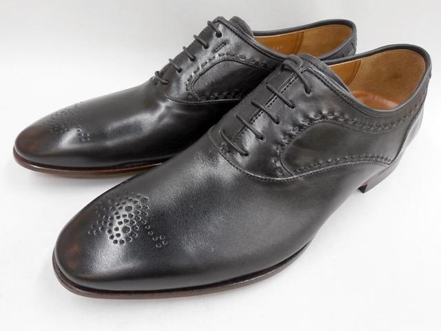 【19年発売モデル】キャサリンハムネット 靴ラウンドトゥローヒール メダリオンビジネスシューズ 31630(ブラック) KATHARINE HAMNETT メンズ 紳士靴