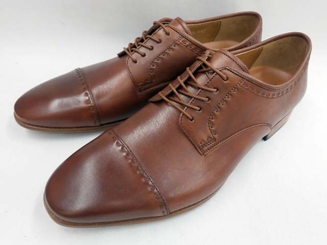 【19年発売モデル】キャサリンハムネット 靴ラウンドトゥローヒール ストレートチップビジネスシューズ 31631(ブラウン) KATHARINE HAMNETT メンズ 紳士靴