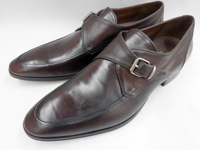 【20年春発売】 キャサリンハムネット 靴 ビジネスシューズラウンドトゥ モンクストラップ 31632(ダークブラウン) KATHARINE HAMNETT メンズ 紳士靴