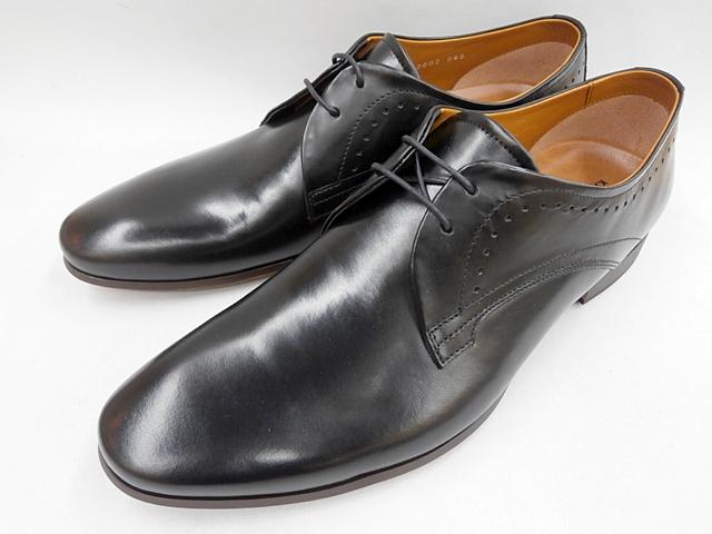 【20年春発売】 キャサリンハムネット 靴 ビジネスシューズローヒール ブラッチャープレーントゥ 31634(ブラック) KATHARINE HAMNETT メンズ 紳士靴