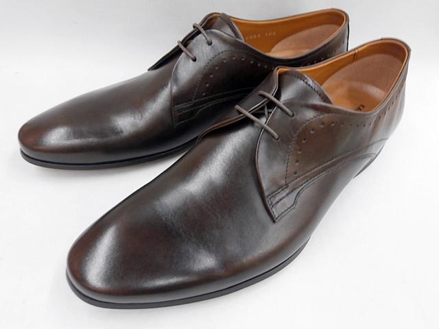 【20年春発売】 キャサリンハムネット 靴 ビジネスシューズローヒール ブラッチャープレーントゥ 31634(ダークブラウン) KATHARINE HAMNETT メンズ 紳士靴