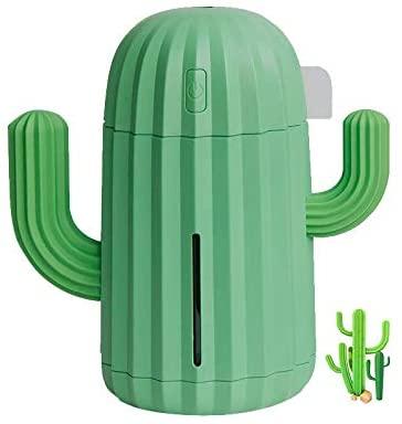 家庭用加湿器 サボテンの外観 特別なデザイン ストレスフリー 家庭用超音波340ml USBバージョン ポータブル式ベッドルームのナイトライト、事務室用
