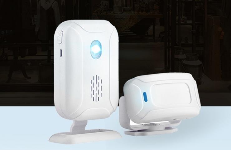 人感センサー チャイム 人感チャイムセット 本物 ドア窓チャイム ワイヤレスチャイム 赤外線センサー 36種類の呼出音楽 インターホン 付与 7つモード ナイトライト 4段階の音量 防犯