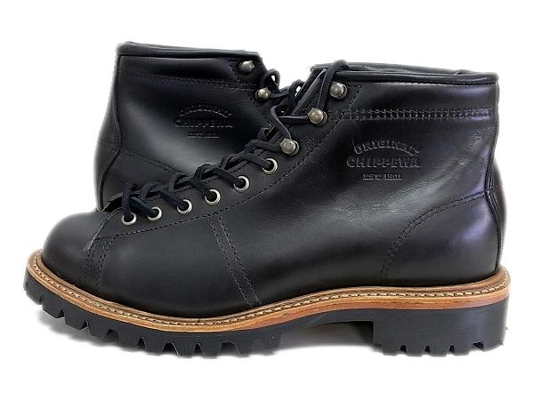 【国内正規品】 チペワ CHIPPEWA 5インチ レース トゥ トウ フィールドブーツ CP1901G42 ブラック カラー 5-inch lace-to-toe field boots